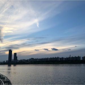 念願の漢江公園!