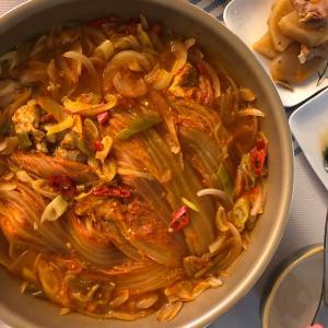 豚肉のキムチチムレシピ