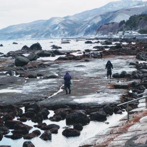 冬の津軽海峡沿岸