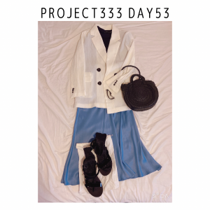 Project333 Day53 夏配色の着納めコーデ。狙っている秋冬物①UNIQLO U