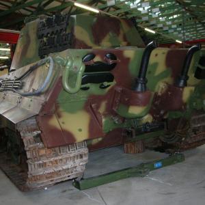 後方から見たドイツ軍戦車(1)
