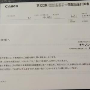 配当_キヤノン (7751) 202006