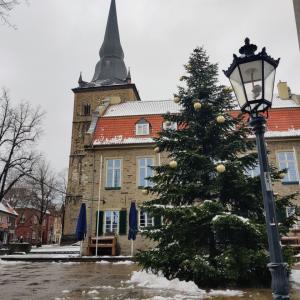 雪のRatingen散歩と初バウムクーヘン