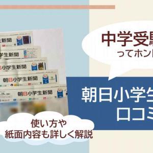 朝日小学生新聞を口コミ!中学受験にも有効な使い方まで徹底解説!