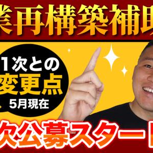 【変更点8つ】事業再構築補助金2次公募開始と変更点について【7/2(金)まで!】熊本の行政書士が解説する!
