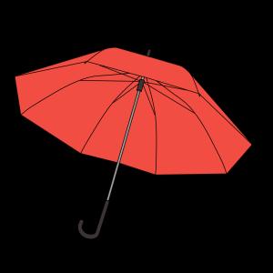 傘のフリーイラスト(6種類)