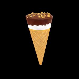 チョココーンアイスクリームのフリーイラスト