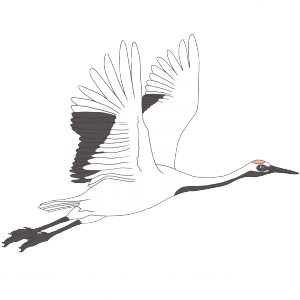 鶴のフリーイラスト