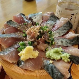 箱根の帰りに漁港の駅 TOTOCO小田原 鯖の三種盛り