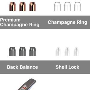 【L-style】シャンパンリング(ノーマル、プレミアム、DMC、バックバランス)の重さの違い