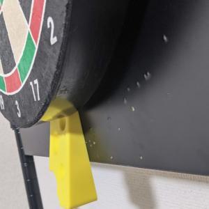 ダーツボードが回転したりズレたりするのを防ぐドアストッパー