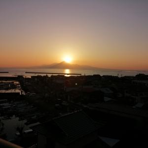 黄昏の夕陽