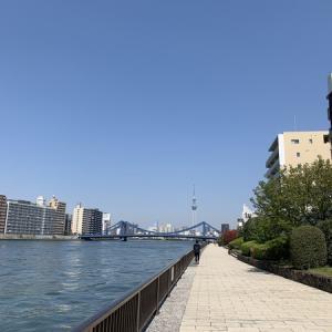 隅田川テラス8キロ:気持ちの良いヒルラン・・・無理せず走る