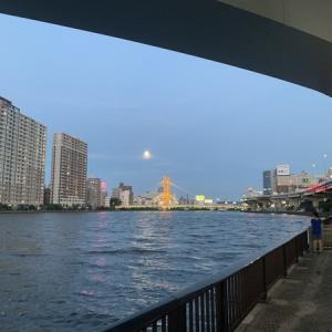隅田川テラスSSD6キロ:再開2日目、疲れが残るが、ゆっくり走る(8月2回目)