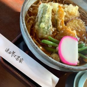 【信濃追分】追分そば茶屋:冬の定番と言えば、暖かい天ぷら蕎麦!