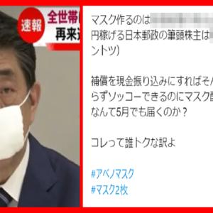 安倍総理がマスク2枚を郵送する本当の理由がこちら
