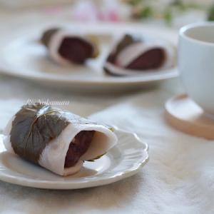 米粉レシピ:フライパンで作る♪関東風桜もち