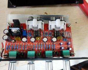 NFJ  NE5532 プリアンプ組立キット 追記とLED