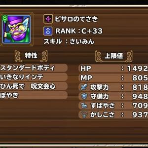 ピサロのてさき RANK:C+33 / 魔王の書 RANK:B+33 20200922