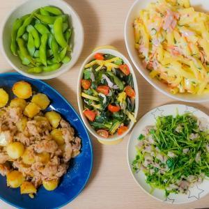 [料理] 夕飯~時間があると作りすぎる~