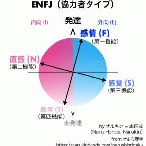 ENFJ(協力者タイプ)の心理機能(認知機能)