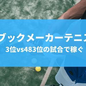 世界3位 vs 483位のテニス試合で稼ぐ!みんなが知ってるあの選手ね