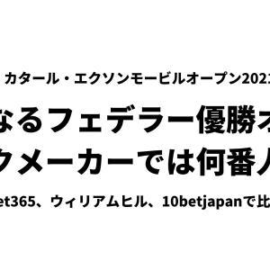 【Doha2021】フェデラー優勝にブックメーカー3.75〜4.33倍の予想オッズ