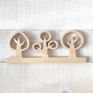 ◆糸ノコ木工◆ Triple tree ~handmade~