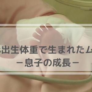 【極低出生体重児で生まれた息子】息子の成長