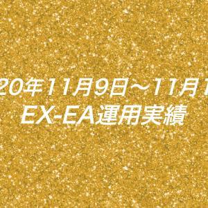 【週利】2020年11月9日〜11月13日のEX-EA運用実績