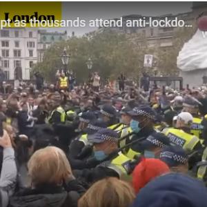 イギリス 再びのロックダウンに抗議 Freedom!!