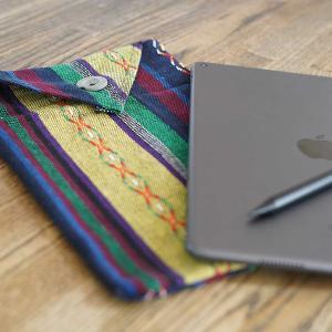 「iPad裸族専用」百均端切れ布でつくったオリジナル布スリーブ〜iPad裸族の持ち運びは布スリーブで決まり。
