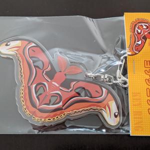 巨大蛾『ヨナグニサン』のキーホルダーが可愛い!【日本の蛾クリアファイル】【北海道の虫手ぬぐい】【みのじさんの「みのむし商店」】