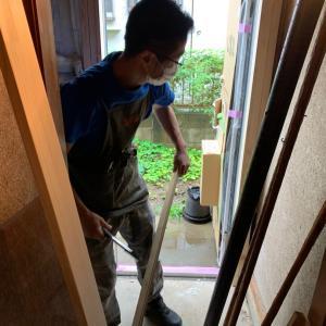 玄関DIY始まります