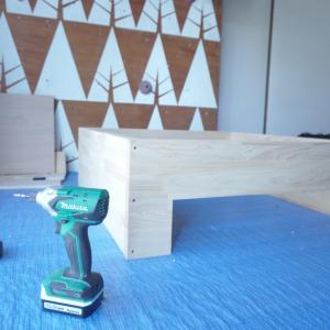 【小上がりDIY】#03 ダボ穴埋めで板を組みます
