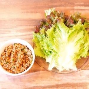 納豆とひき肉のレタス包み|居酒屋風おつまみレシピ