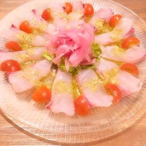 真鯛のカルパッチョ|イタリアンレシピ・作り方