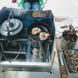 ウッドとガスの融合! 二代目2口コンロ試し火入れ!光熱費ゼロで昼夜料理!!