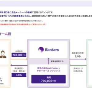 Bankers(バンカーズ)3億円満額集まってもキャンセル、伊勢の卵 Next Century サポーターズ ファンド