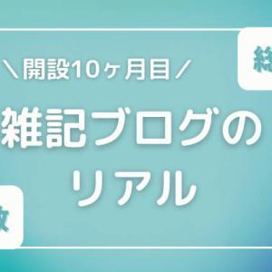 【総PV数】開設10ヶ月目 雑記ブログのリアル【総収益?】