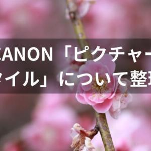 CANON「ピクチャースタイル」について整理!
