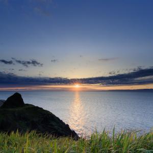 角田岬で夕日を撮りながら写真の奥行き感を考えてみた