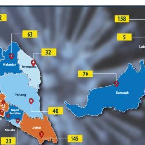 2020年3月22日時点のマレーシアコロナウィルス感染者数