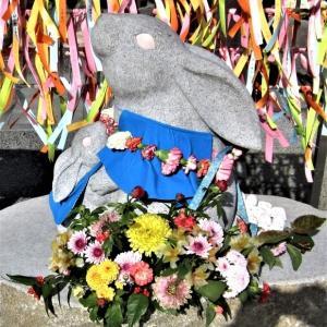74番札所は花手水とウサギの甲山寺