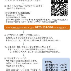 愛媛県松山市PCR検査費用、病院