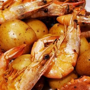 【レシピ】アメリカ南部料理 ルイジアナ・ケイジャンシーフード(オーブン調理&レストラン方式)