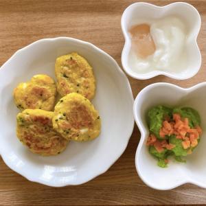 【ズボラ離乳食レシピ】豆腐入りじゃがもろこしおやき(モグモグ期)