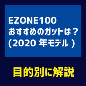 EZONE100(2020年新作モデル)に合うおすすめのガットは?目的別に4タイプ紹介!