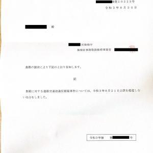 【不起訴確定!】交通違反(青切符)の反則金の不払いに成功!