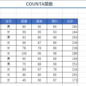 エクセル講座5(COUNTA関数・COUNTBLANK関数)